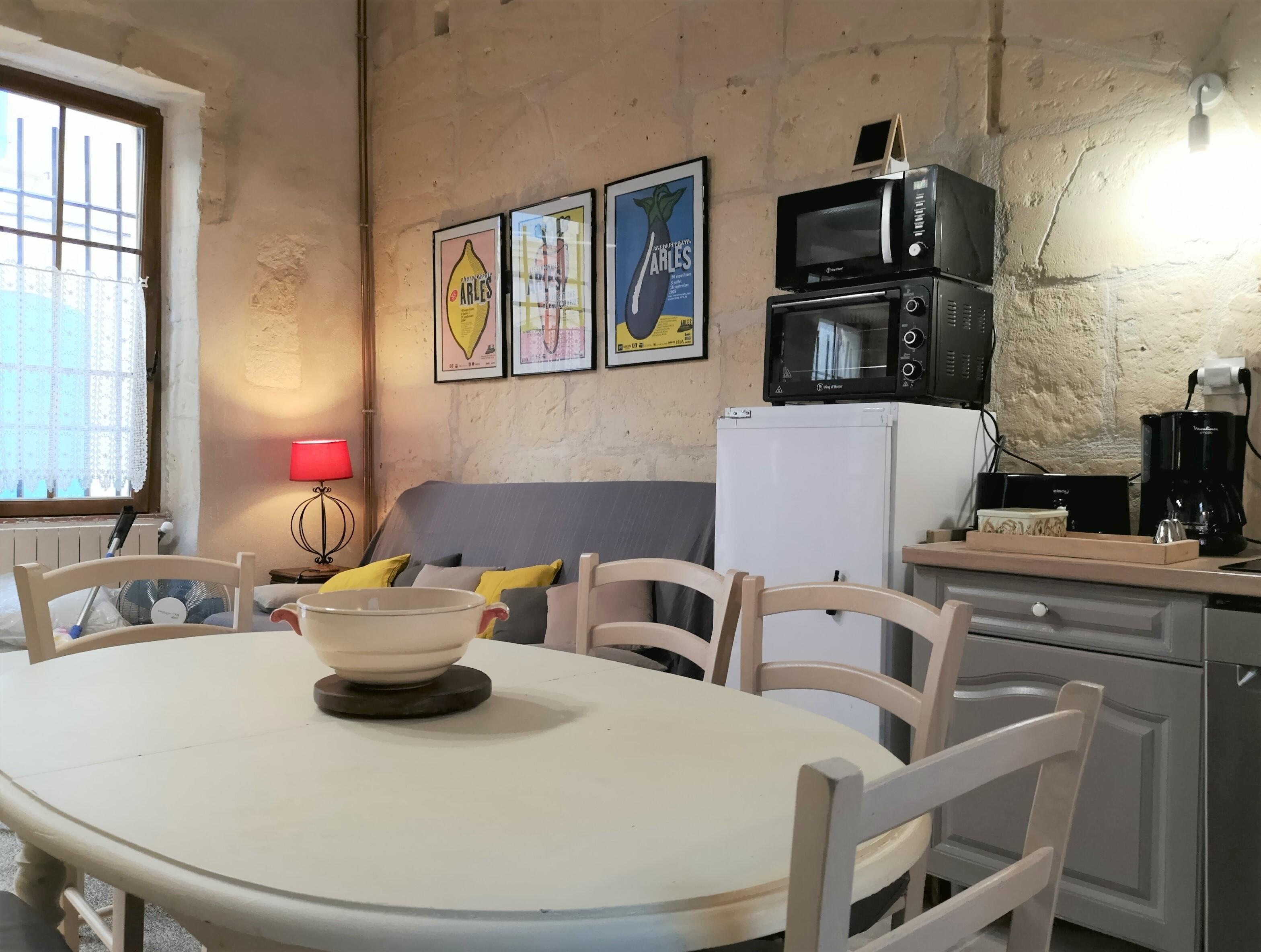 vue cuisine et salon