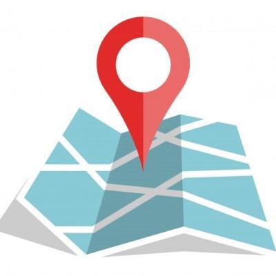 Icone localisation couleur plat carte papier 52465 148