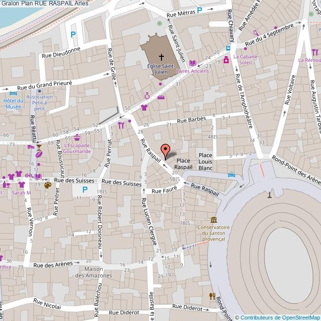 Plan rue raspail Arles