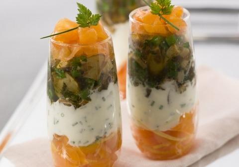 Recette verrines saumon fume cepes gelee 12527