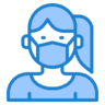 Virus covid corona mask protect icon 141704